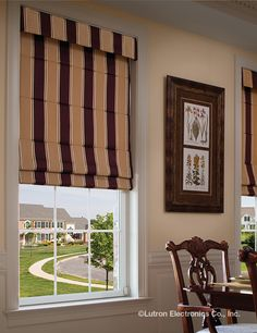 Shading Solutions from Lutron Provide Energy Saving Light Control Roller Shades, Roman Shades, Save Energy, Window Treatments, Windows, Lighting, Romans, Home Decor, Technology
