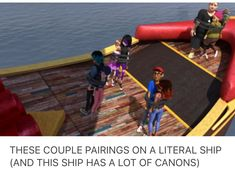 Mariunette•~•tumblr•~•no srsly almost all of the ships are on a ship (note:almost)
