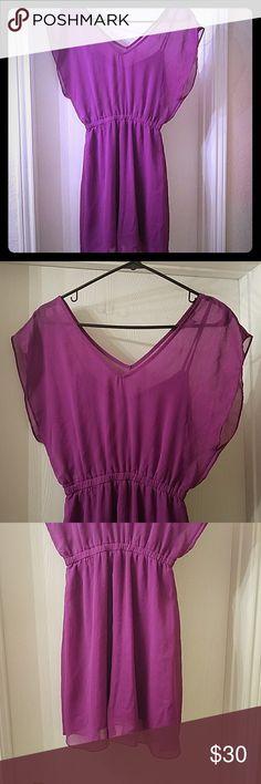 Express purple semi formal dress Purple dress rarely worn from express. Rarely worn. Great for special occasions. Express Dresses