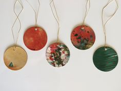 Hand painted Christmas/ holiday, gift tags by JessicaFraserArt on Etsy