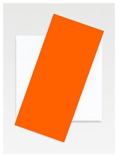 Ellsworth Kelly, Orange Diagonal 2008 Oil on canvas, two joined panels 87 1/4 x 60 inches; 227 x 152 cm