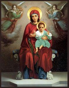 Virgin mary holding her son jesus virgen maría santísima vir Divine Mother, Blessed Mother Mary, Blessed Virgin Mary, Madonna Art, Madonna And Child, Catholic Prayers, Catholic Art, Religious Images, Religious Art