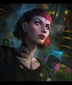 ArtStation  -  cyber, Veronika Kozlova