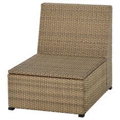 SOLLERÖN brown, One-seat section, outdoor. Create an armchair or customised sofa with SOLLERÖN modular sections. Use the one-seat section on its own or add armrests or more sections. Maintenance-free plastic rattan makes life comfortable. Modular Corner Sofa, Modular Sofa, Paper Industry, Wood Supply, Ikea Family, Polypropylene Plastic, Thing 1, Decorative Cushions, Acacia Wood