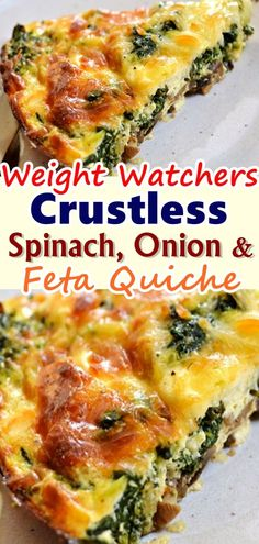 Oh Yumm Yumm One og the best recipe ever and come with low points only 4 Smart Points Per Serving Servings Per Recipe 6 Serving Size 1 serving Dont forget to Pin this so. Skinny Recipes, Ww Recipes, Low Carb Recipes, Vegetarian Recipes, Cooking Recipes, Healthy Recipes, Recipies, Vegetarian Quiche, Vegetarian Dish