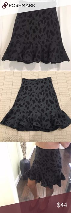 Anthropologie JOA Woven Printed Knit Peplum Skirt Anthropologie JOA Woven Printed Knit Peplum Skirt  * Sturdy knit skirt with peplum detail * Fits true to size * Worn once - in excellent used condition with no pulls, stains or holes * Great fall skirt! * Open to offers, sorry no trades Anthropologie Skirts