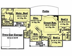 1600 square foot house plans | 1600 Square Feet 3 Bedrooms 2 ...