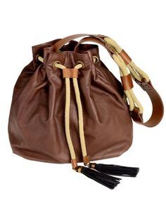 Lanvin  Gaby  Leather bucket bag. My mom s style rubbing off on me. 9957bf5e79801