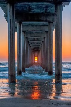 Sunset framed...