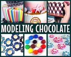 The ULTIMATE online resource guide to working with modeling chocolate including free tutorials with instructional videos Cake Writing, Writing Tips, Cupcake Frosting Techniques, Birthday Present Cake, Modeling Chocolate Recipes, Beach Themed Cakes, Chocolate Flowers, Biscuit, Dessert Decoration