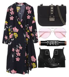 """""""Untitled #1296"""" by andreiasilva07 ❤ liked on Polyvore featuring Oliver Peoples, Valentino, MANGO and NARS Cosmetics"""