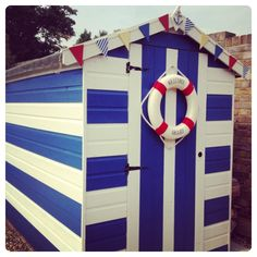 My beach hut garden shed - nautical inspired!
