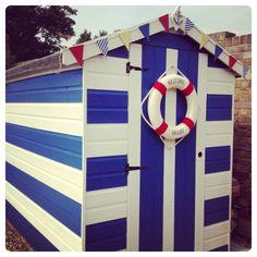 My beach hut garden shed - nautical inspired!