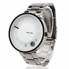 Tanboo Unisex Steel Analog Quartz Wrist Watch (Silver) by Tanboo. $9.99. Wrist Watches. Casual Watches. Women's, Men's Watche. Gender:Women's, Men'sMovement:QuartzDisplay:AnalogStyle:Wrist WatchesType:Casual WatchesBand Material:SteelBand Color:BlackCase Diameter Approx (cm):4Case Thickness Approx (cm):0.6Band Length Approx (cm):21.3Band Width Approx (cm):2.2