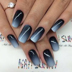 Best Ombre Nail Designs for 2019 – Ombre Nail Art Ideas. The ombre nail art designs look very glamorous for women. Cute Nails, Pretty Nails, My Nails, Fall Nails, Summer Nails, Fall Manicure, Happy Nails, Classy Nails, Spring Nails