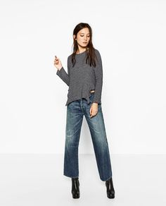 CHECKED TOP-View all-TOPS-WOMAN   ZARA India