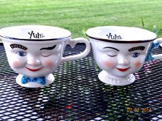 Vintage Pair of Bailey's Irish Creme (Limited Edition) Man and Woman Winking Cups by TimelessTreasuresbyM on Etsy