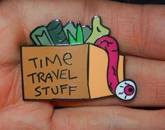 Time Travel Stuff Pin LE 50 Rick and Morty Free Shipping U.S.