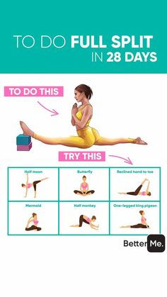 Easy answer - the yoga workout that helps you to become flexible and slim is rig. - Easy answer – the yoga workout that helps you to become flexible and slim is right below! You ne - Gym Workout Tips, At Home Workout Plan, Butt Workout, Workout Challenge, Workout Videos, At Home Workouts, Splits Challenge, Workout Routines, In Bed Workout