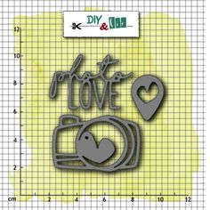 Outils de découpe PHOTO LOVE Scrapbooking, Creations, Photos, Love, Diy, Bottle, Collections, How To Make, Tools