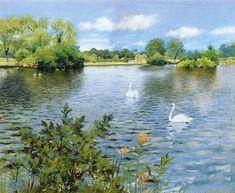 William Merritt Chase A Long Island Lake (1890)
