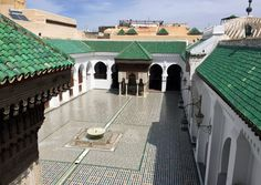 Il cortile dell'università di al-Qarawiyyin a Fez, in Marocco, il 14 aprile 2016. - Samia Errazouki, Ap/Ansa