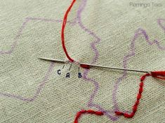 Embroidery Tips » Flamingo Toes