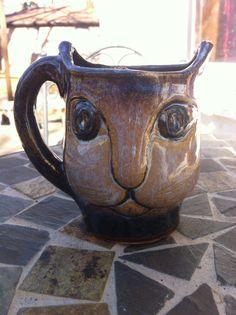 Ceramic Handmade Cat Mug by gypsyevolution on Etsy