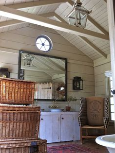 i can't believe this used to be a chicken coop.  very cool.  (from homemaker2words)