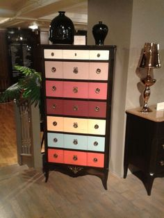 Love this multicoloured dresser, though it's a bit steep because it's from Harrods