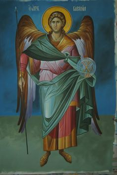 Whispers of an Immortalist: Icons of Holy Angels 2 Archangel Gabriel Religious Icons, Religious Art, Saint Gabriel, Angel Guide, Angel Drawing, Byzantine Icons, Angels Among Us, Guardian Angels, Orthodox Icons
