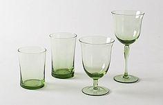 Billy Cotton Green Glassware