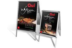 Cavalletti promo pubblicitari per il punto vendita 'a pizza al Vomero. Agenzia di pubblicità a Napoli AT&ACME #ateacme #cavallettipubblicitari