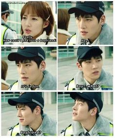 #Healer I loved his reaction after being called her boyfriend. Too cute!