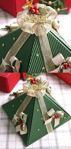 DIY Pyramid Christmas Box