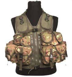 Mil-Tec Einsatzweste Tactical, 9-Taschen, vegetato / mehr Infos auf: www.Guntia-Militaria-Shop.de