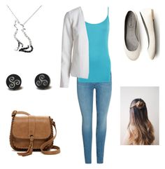 """""""Going to work with dad (Kellie)"""" by wildwolf213 ❤ liked on Polyvore featuring WearAll, T-shirt & Jeans and Malin + Mila"""