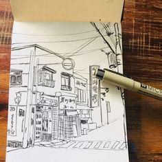직장인취미미술 펜 드로잉 추천 안녕하세요. 깜콩입니다 날씨가 많이 누그러져 좋은 날입니다. 조금은 흐리... Pen Illustration, Illustrations, Architectural Sketches, Watercolor, Urban, Sketchbooks, Drawings, Artwork, Blog