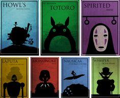 Ghibli minimalist poster