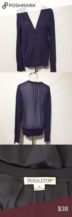 Pendleton Button Up Sheer Back Cardigan Like new! Pendleton Sweaters Cardigans