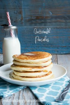 Classic Buttermilk Pancakes- delicious, light, and fluffy
