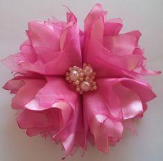 Flor de Cetim Passo A Passo#01