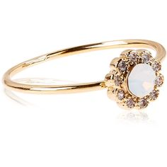 Accessorize Tiny Flower Ring ($23) ❤ liked on Polyvore featuring jewelry, rings, flower jewelry, flower ring, blossom jewelry and accessorize jewellery