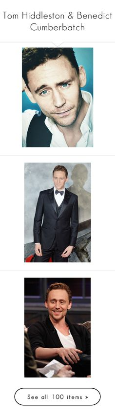 """""""Tom Hiddleston & Benedict Cumberbatch"""" by i-kneel-for-loki ❤ liked on Polyvore featuring tom hiddleston, people, guys, men, images, loki, marvel, pictures, models and backgrounds"""