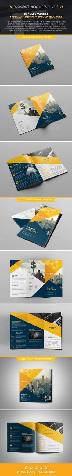 Brochure Template PSD Bundle