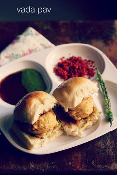 vada pav recipe with step by step photos - vada pav or wada pav is the common man's food in mumbai and is a popular street food snack across whole maharashtra. you will find shops selling vada pav Indian Snacks, Indian Food Recipes, Vegetarian Recipes, Snack Recipes, Cooking Recipes, Healthy Recipes, Lassi Recipes, Healthy Food, Breakfast Recipes