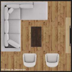 15 formas de distribuir los muebles en un salón cuadrado Home Staging, Floor Chair, Diy, Flooring, Room, Manga, Furniture, Home Decor, Diner Decor