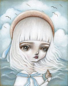 """By the Sea"" by Lauren Saxton (Fair Rosamund Art)."