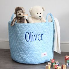 Personalised Blue Spot Storage Bag available from Not On The High Street