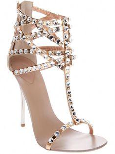 Giuseppe Zanotti Design Crystal Embellished Sandal - - Farfetch.com   GiuseppezanottiHeels 0d4a9f41c7c